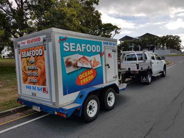 Currently Seafood Van, Rear Display, Honda Genset & 240 power, Pricing Scales, Banners, Signa...