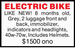 LIKE NEW! 8 months old, Grey, 2 luggage front and back, immobilizer, indicators and headlights, 4...