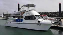 Custom fitted with over 400k spent on this as new boat. Twin super reliable 315hp turbo diesel Yanma...