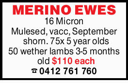 16 Micron Mulesed, vacc, September shawn.