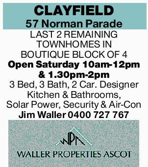 3 Bed, 3 Bath, 2 Car.   Designer Kitchen & Bathrooms, Solar Power, Security & Air-Con...