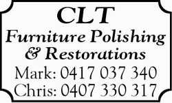 CLT Furniture Polishing & Restorations Mark: 0417037340 Chris: 0407330317