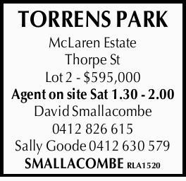 McLaren Estate   Thorpe St   Lot 2 - $595,000   Agent on site Sat 1.30 - 2.00 ...