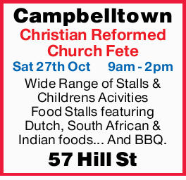 Campbelltown Christian Reformed Church Fete