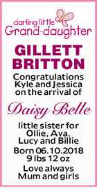 GILLETT BRITTON, Daisy Belle
