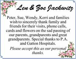 Len & Zoe Jackwitz