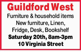 Furniture & household items   New furniture, Linen, Fridge, Desk,   Bookshelf Saturda...
