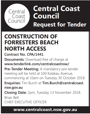 CONSTRUCTION OF FORRESTERS BEACH NORTH ACCESS