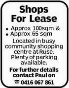 Shops For Lease