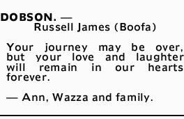 DOBSON. - Russell James (Boofa) 