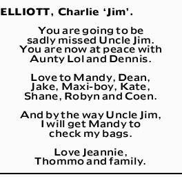 ELLIOTT, Charlie `Jim'.