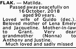 FLAK. - Matilda.
