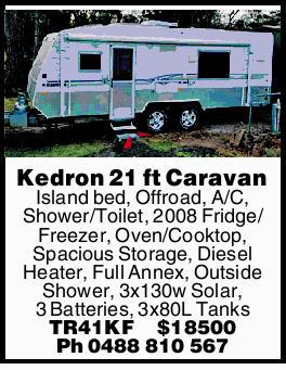 Kedron 21 ft Caravan   Island bed, Offroad, A/C, Shower/Toilet, 2008 Fridge/Freezer, Oven/Coo...