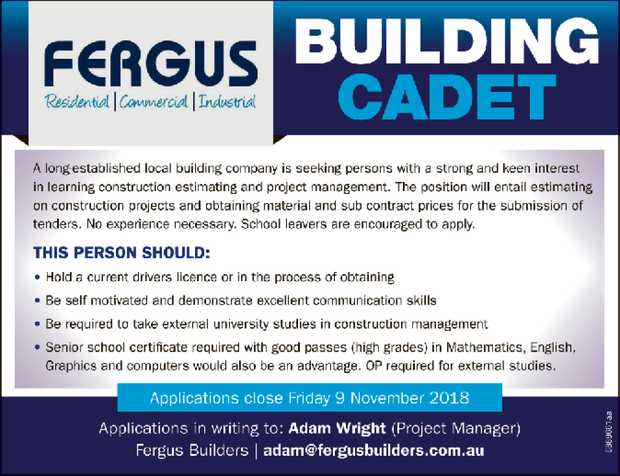 A long-established local building company is seeking persons with a strong and keen interest in l...