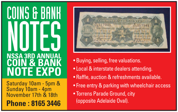NSSA 3rd annual coin & bank note expo