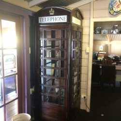Suit retro/bar/cafe: Telephone booth, Indian doortable, kitchen hutch, chest of drawers, gothic c...