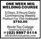 ONE WEEK MIG WELDING COURSE