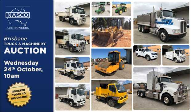 BRISBANE TRUCK & MACHINERY AUCTION WEDNESDAY 24th OCTOBER @ 10AM