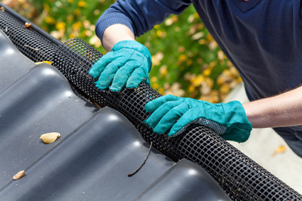 Gutter Vacuuming eliminates dirt, mud and leaves