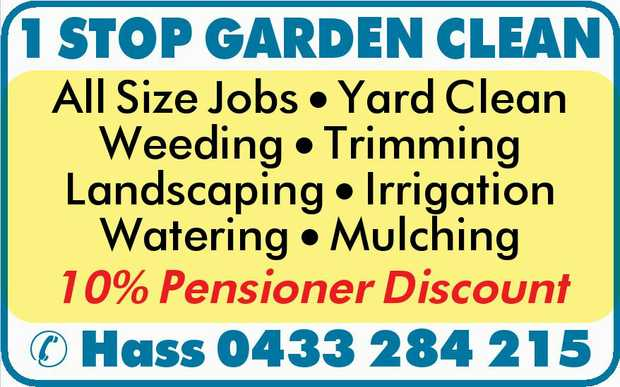 All Size Jobs   Yard Clean   Weeding   Trimming   Landscaping   Irrigation ...