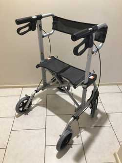 Model # 65213 folding aluminium frame walker/ with seat ability