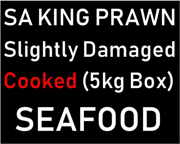 $16.00kg   Slightly Damaged Cooked (5kg box)   Free Range Seafood   12 Charles Rd, BE...