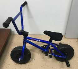 Almost brand new Fatboy Minirocker BMX gloss blue for sale.  Purchased Xmas 2017.  Hardly used, gara...