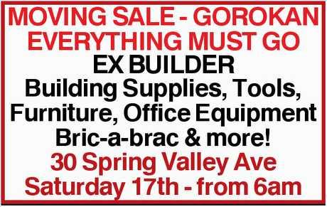 <p> Building Supplies, Tools, Furniture, Office Equipment Bric-a-brac & more! </p> <p> 30...</p>