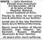 WHITE. - John Hamilton.