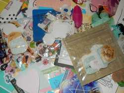 huge bag full misc craft 5 rolls wrap paper stickers and more all new