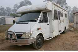 2003 Sunliner motor home, Mecedes 616cid sprinter, t/diesel, 80,000klm. 8.5mtr long, Reg'd...