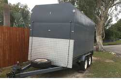 Enclosed Trailer 12'L x 6'W x 7'H, rear ramp, as new tyres, brakes & bearin...