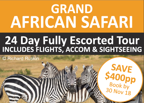 A Signature Tour by ZEPPELIN TRAVEL   GRAND AFRICAN SAFARI   24 Day Fully Escorted Tour ...