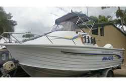 2000 Quintrex 560 Spirit ¼ Cab Ally Hull,   2 Fuel tanks and Extras   2006 Evinrud...