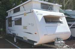 AVAN ERIN MK II 2005 17' Poptop, f/annexe, 3w frig, 4 gas burner, d/bed a/c, m/w, TV, s/pan...