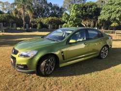 "SV6 Sedan. 3.6L. Jungle green. Auto.  Very low kms only 19,414 . 18"" alloy sports wheels. Part leath..."