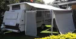 1998, single axle, rear island bed, front kitchen - club lounge. Good Condtion van with awning et...