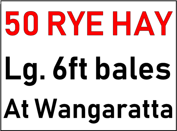Lg. 6ft. bales, at Wangaratta, clean, inspection welcome. 