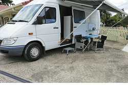 MERCEDES SPRINTER 2001 motor home LWB 308 Daimler turbo, mod kitchen, sh/toilet/vanity, 2 s/ bed...