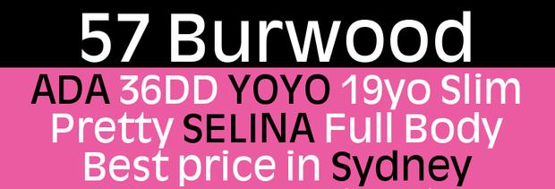 ADA 36DD   YOYO 19yo Slim   Pretty SELINA Full Body   Best price in Sydney   57 G...