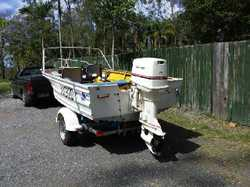 70hp Johnson, spent $1500 on motor, all new parts, trailer like new. Tyres in good conditio...