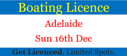 Adelaide   Sun 16th Dec   Get Licenced, Limited Spots.