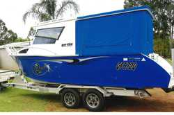 RIP TIDE 7.5m aluminium cabin cruiser, Volvo stern drive 190hp D3 diesel with electronic vessel m...