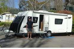 2014 Elddis Australia Edition (1370kg) 21ft caravan, reg 05/19, twin & double beds, ensuite,...