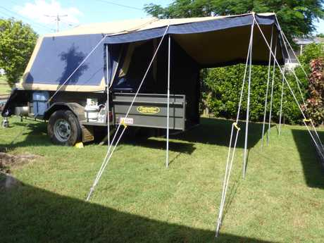 <p> All terrain tyres & spare (2yo), Dyna-proofed canvas, 9ft annex with walls & screens, 70L...
