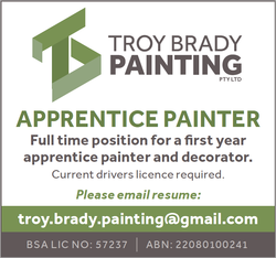 Apprentice Painter   Full time position for a first year apprentice painter and decorator. Cu...