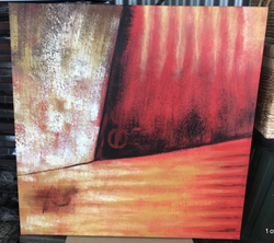 1m sq. Earthy colours. Excellent condition