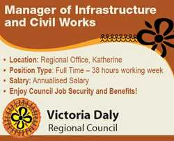 Location: Regional Office, Katherine  Position Type: Full Time - 38 hours working week ...