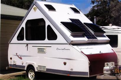 AVAN 2001   Lge boot, 3-way fridge, 80W solar panel, elect brakes, easy towing, rego, $11,000...