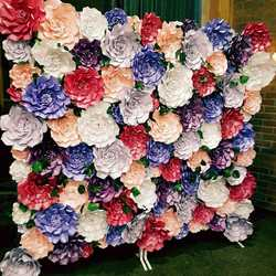 Hire or Order bespoke Paper Flower Backdrops for any occasion. View 'changescenery' paper flow...